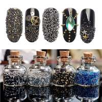 4g/jar Mini 0.8mm Caviar Beads Multi-size Shining Rhinestones DIY UV Nail Art Decoration Manicure Accessories with Mini Bottle