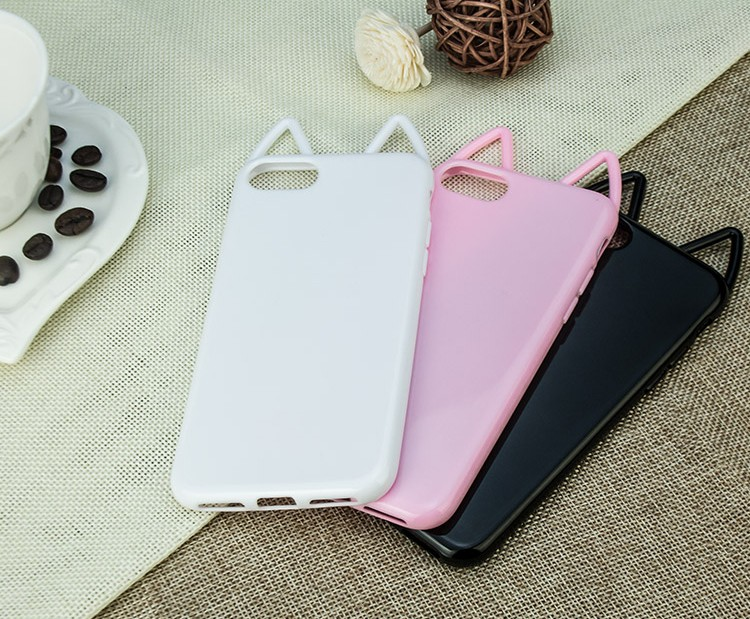 Soft Tpu Cat ears Design Mobile Phone Case for LG G2