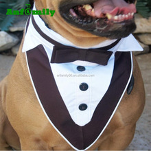 Dog Black and White Tuxedo Wedding Attire Pet Clothes Tuxedo Dog Collar