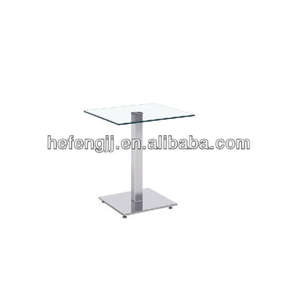 Square glass cocktail table modern design