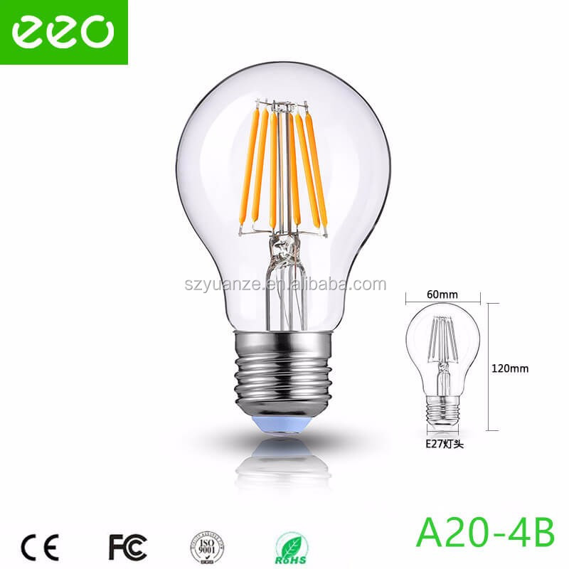 High Quality A60 A19 G45 Led Filament Bulb, E27 B22 Filament Led Globe, Filament Led Candle Light