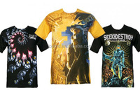 Custom made sublimation 3D t-shirt printing