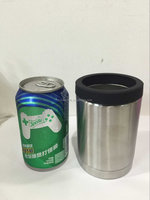 thermos stainless steel can Coolers,Insulated Stainless Steel Can Cooler, Double Wall Wine Cooler