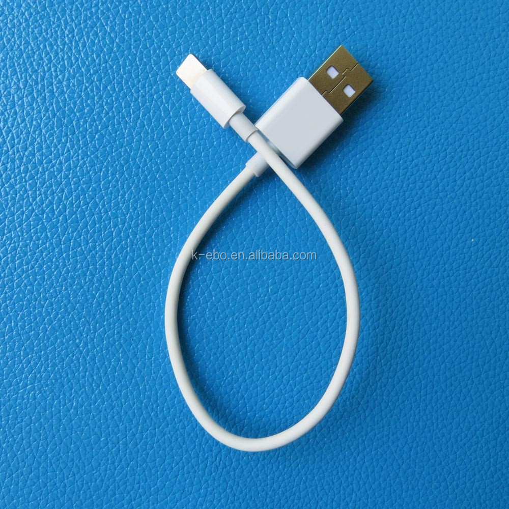 20cm Two sides usb data cable for iphone 6 and android smartphones