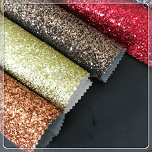 Hot selling 1.4mm chunky glitter fabric leather