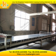 Picture of gypsum wallboard making machine