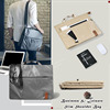 High Quality Laminated Canvas Tablet/Laptop Slim Tote handbag With Long Shoulder Strap