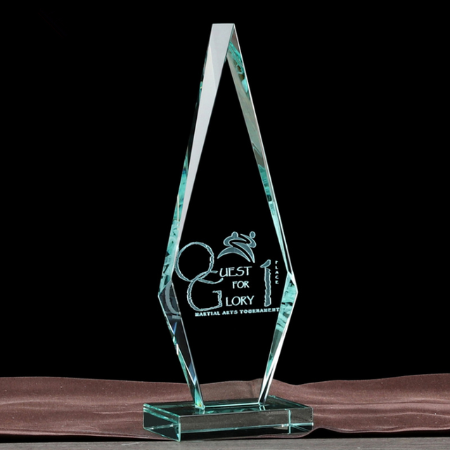 Crystal Iceberg Trophy Award Plaque for Engraving