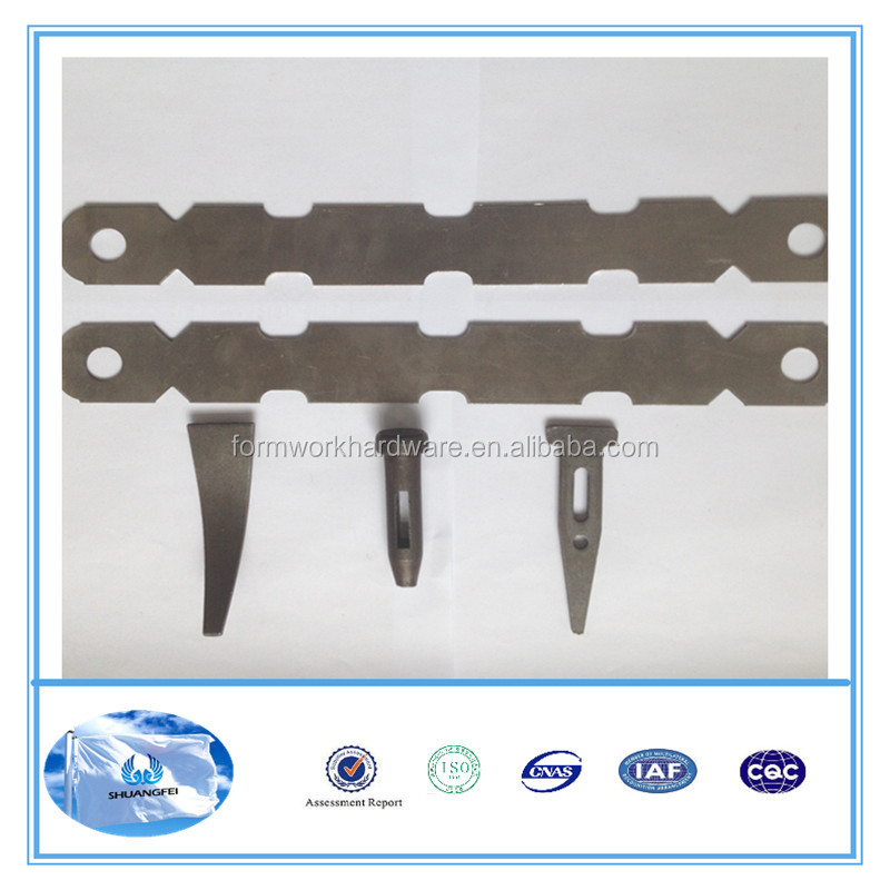 plastic formwork Hardware x flat tie,wall tie system concrete forms