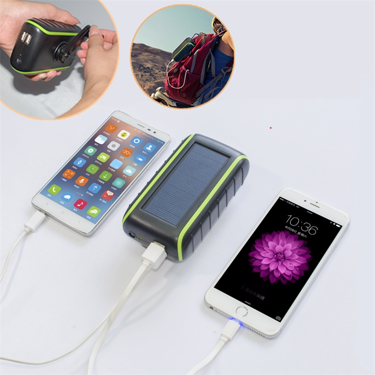 Hand crank Solar charger for mobile phone solar cell phone charger solar powered cell phone battery charger