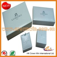 1200G grey paper card+157G art paper+matte lamination jewelry packaging box