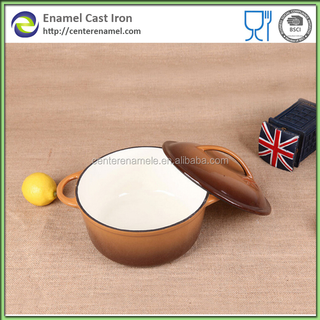 Hot Product Cast Iron Handle Soup Tureen with Enamel Coating Cast Iron Casserole Stock Pots