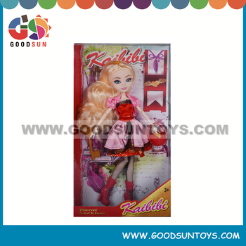 11.5 inch New Fashion Plastic Girl Doll Princess Series Doll