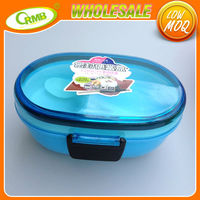 Blue plastic food container with divider houseware 2015