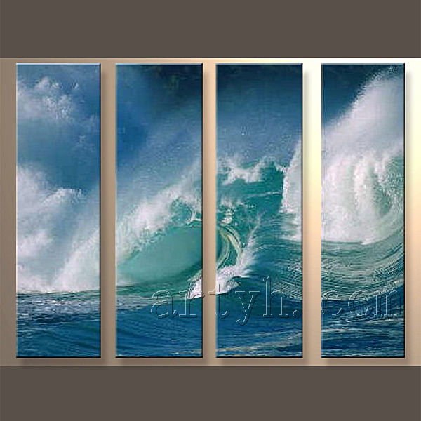 Newest Handmade Sea View Wall Canvas Oil Painting Art For Decoration Home