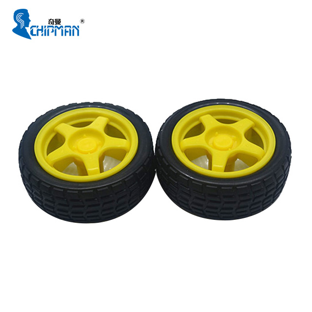Factory Price Plastic Tire <strong>Wheel</strong> with DC 3V 5V 6v Gear Motor For DIY Robot Smart Car Robot