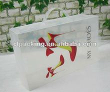 Clear Packaging PP Custom Shoe Box and printing