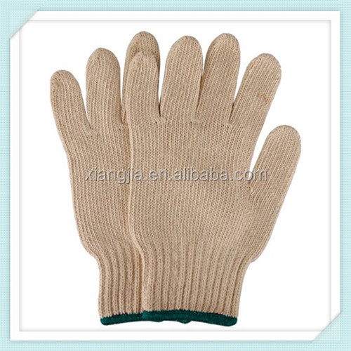 400g to 1000g 10 pins computer machine natural white knitted glove