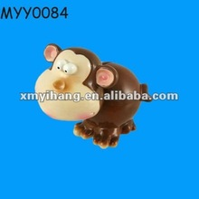Funny monkey pottery wholesale coin box