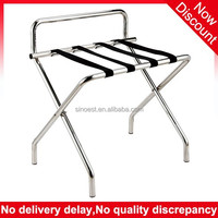 Guangzhou Folding Stainless steel hotel room luggage rack for hotel