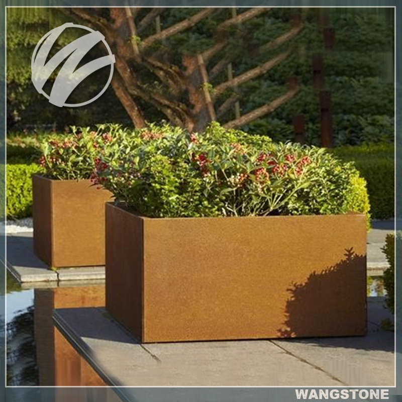 Custom designs metal garden flower pots wholesale buy for Custom garden designs