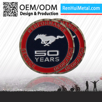 Factory price 2D / 3D custom plating gold & silver metal coin