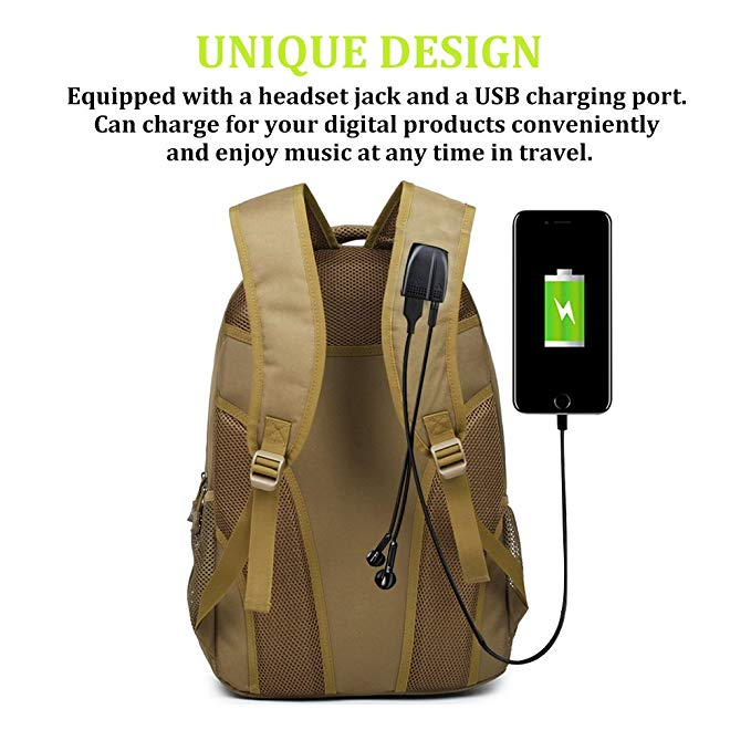 Student Schoolbag Business Laptop Computer Rucksack Tactical Backpack