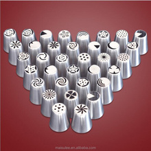 OEM Amazon hot sale 53 pcs different style stainless steel 304 russian piping tips