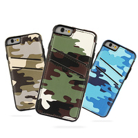 For iphone 6 camouflage color leather cell phone case