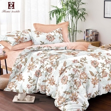 2018 latest pakistani bed sheet designs polyester embroidery Reactive Printing Flora Bedding Set comforter set