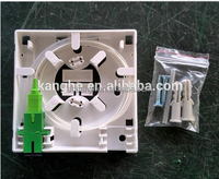 Ftth Box/2 Ports Fiber Optic Faceplate
