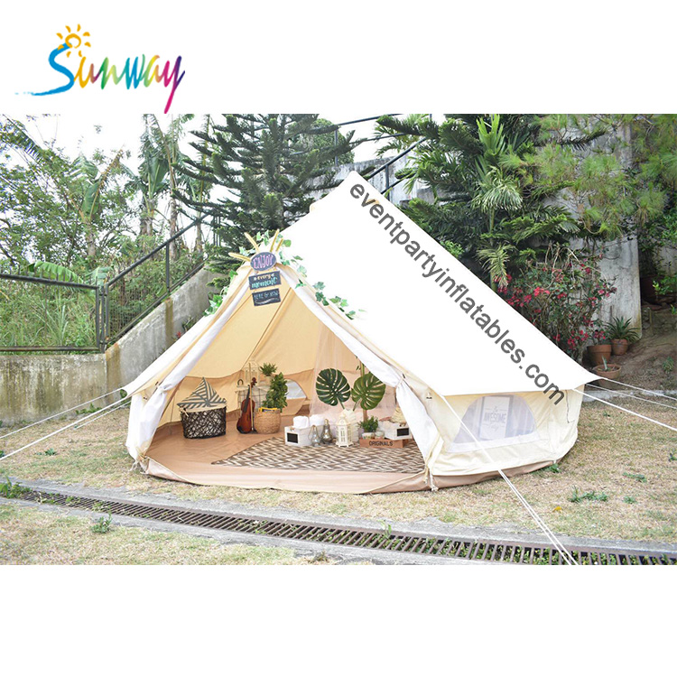 Hot Sale Large Waterproof Canvas Camping 3m 5m 6m 4m Bell <strong>Tents</strong>