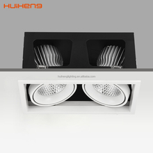 2 Light High Quality Square Recessed LED Grille Spot Downlight 36W 38W 40w