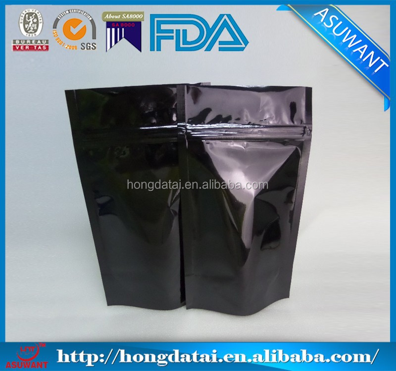 Customized stand up ziplock food packaging nylon bag wholesale