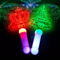 2018 Promotional OEM shaped and logo Acrylic glow sticks for Christmas