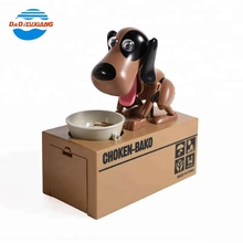 Eating money dog plastic piggy bank saving box for kids