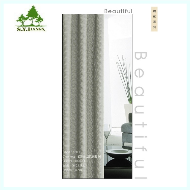 Taiwan supplier S.Y.LIANGS Blackout Fireproof Stripe Pattern Curtain Sheer