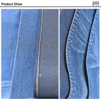 Multi Color high fastness factory pricing heavy denim fabric