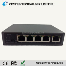 Super Long Range desktop style With Long range and VLan function, data transimit up to 200 Meters 5 Port PoE Switch