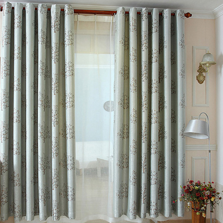 Factory Manufacture Luxury Jacquard Blackout Curtains