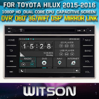 WITSON FOR TOYOTA HILUX 2015 2016 CAR RADIO DVD WITH 1080P CAPACITIVE SCREEN WIFI 3G DVR OBD TPMS MIRROR LINK