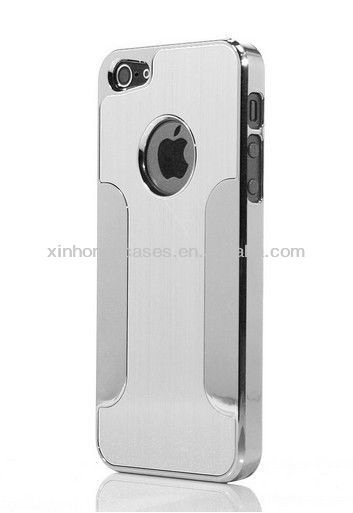 Luxury Brushed Aluminum Chrome Hard case Cover For iPhone 5 5G