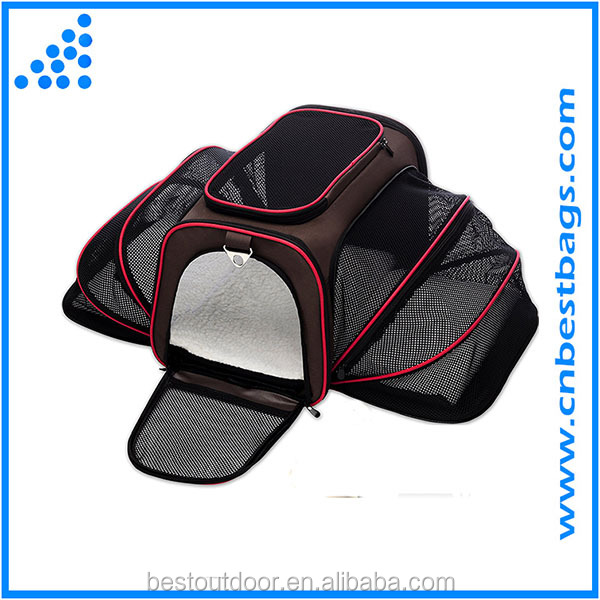 Expandable Pet Cat Carrier for Small Dogs and Cats