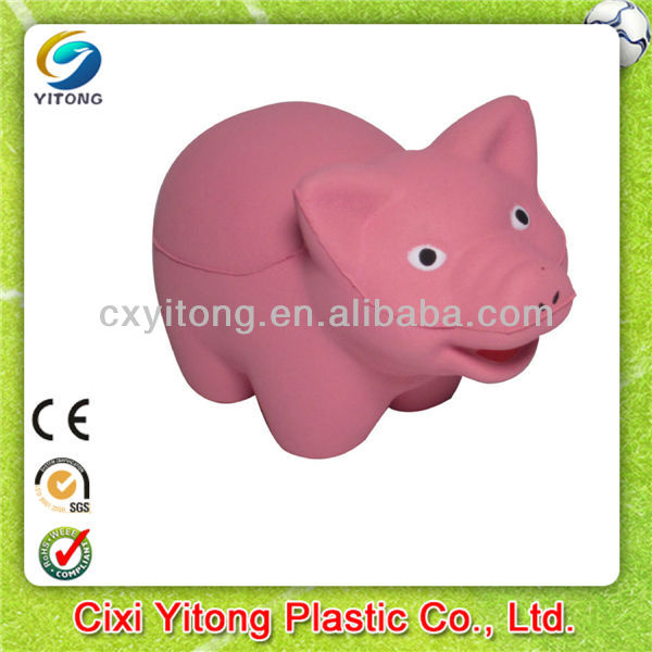2016 New Advertising Gifts,Pig shaped stress reliever toy