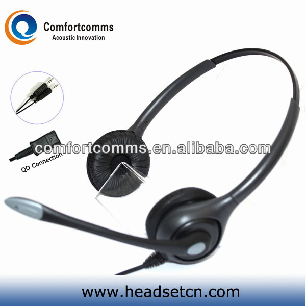 Professional high quality call center headphone wired headset with 3.5mm plug HSM-602RPQDJ3.5D