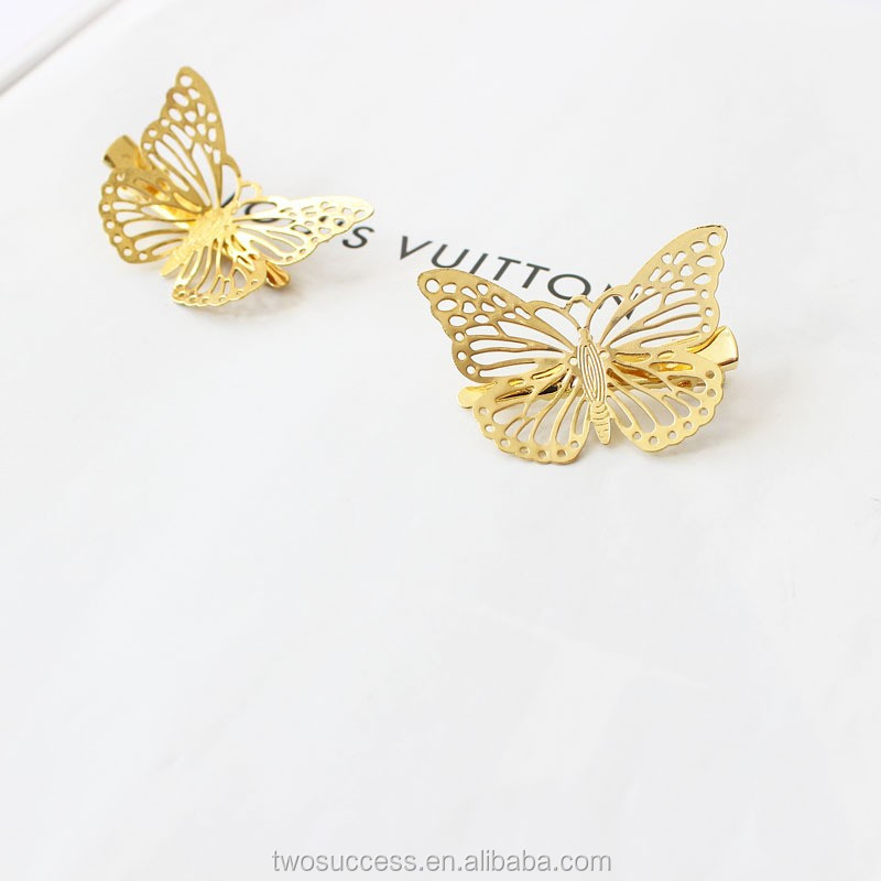 Butterfly hair clip hair clip flower hair clip .jpg