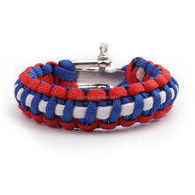 KongBo wholesale outdoor adjustable metal different types of paracord bracelet with logo