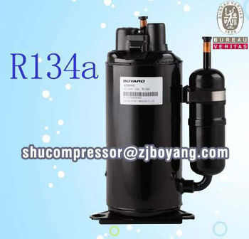 BV compressor for desiccating dry cleaning machine