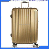 "National classic gloden school long luggage case 26"" ABS strong travel trolley luggage suitcase bag with multiwheels"