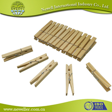 Manufacture wooden clothes peg pin clip with different size